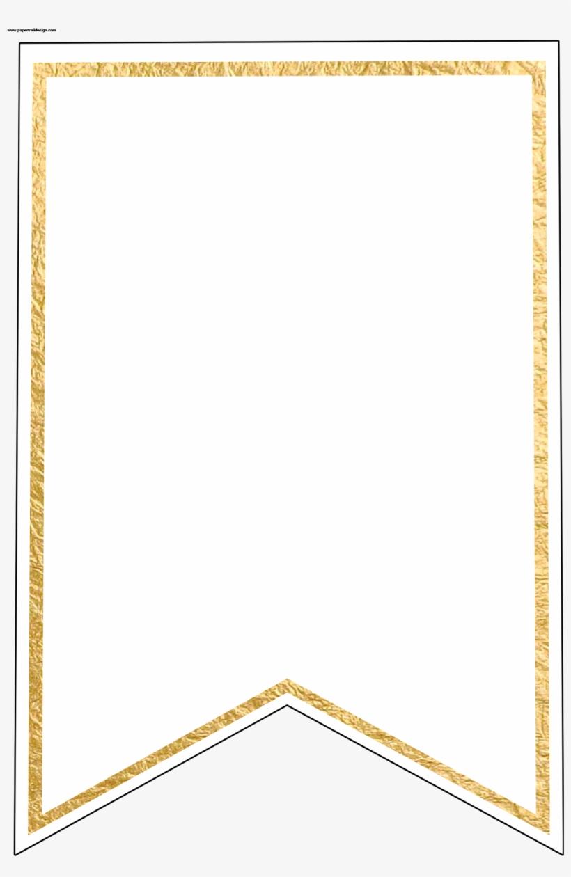 Gold Pennant Banner Blank Template Flag Banner Template - Free - Free Printable Banner Templates