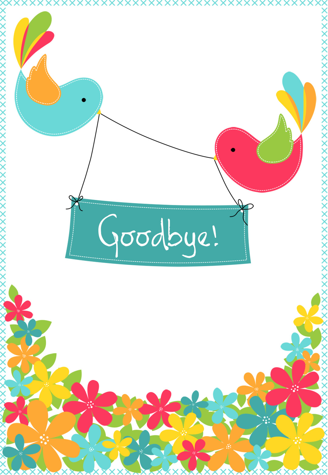 Goodbye From Your Colleagues - Free Good Luck Card | Greetings Island - Free Printable We Will Miss You Greeting Cards