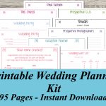 Gorgeous Free Wedding Planning Book 7 Free Printable Wedding Planner   Free Printable Wedding Planner Forms