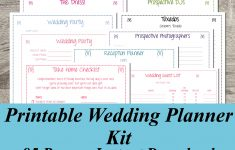 Free Printable Wedding Planner Forms