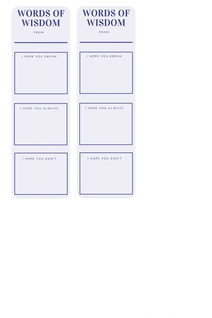 Free Printable Graduation Advice Cards