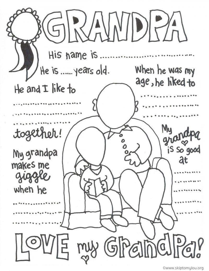 Grandparent Coloring Pages For Grandparents Day | Grandparents, Card - Free Printable Happy Fathers Day Grandpa Cards
