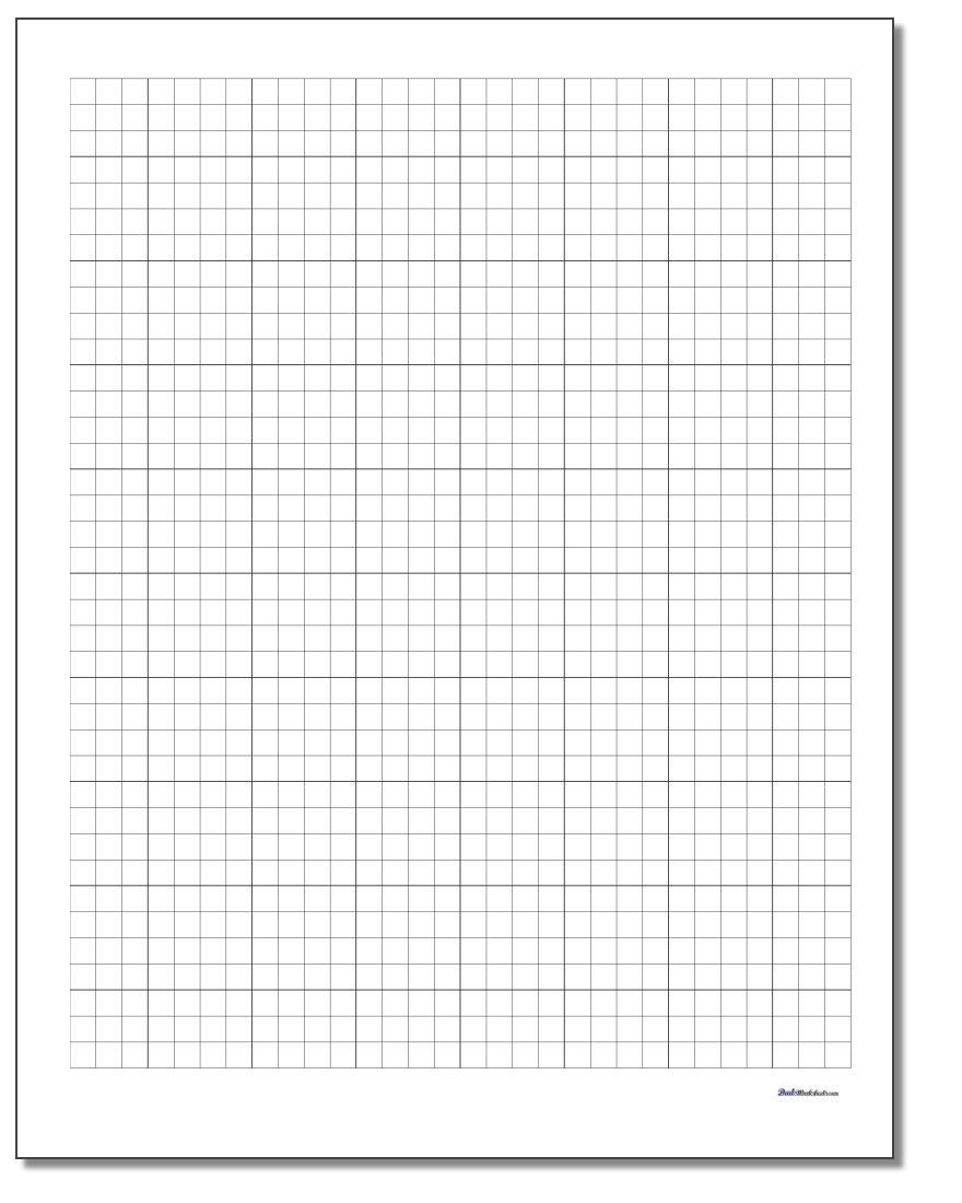 Graph Paper - Free Printable Graph Paper For Elementary Students