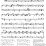 Hallelujah   Cohen   Rufus Wainwright   Shrek Best   Sheet Music   Free Printable Piano Sheet Music For Hallelujah By Leonard Cohen