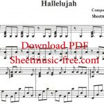 Hallelujah Piano Sheet Music Leonard Cohen   Youtube   Hallelujah Piano Sheet Music Free Printable