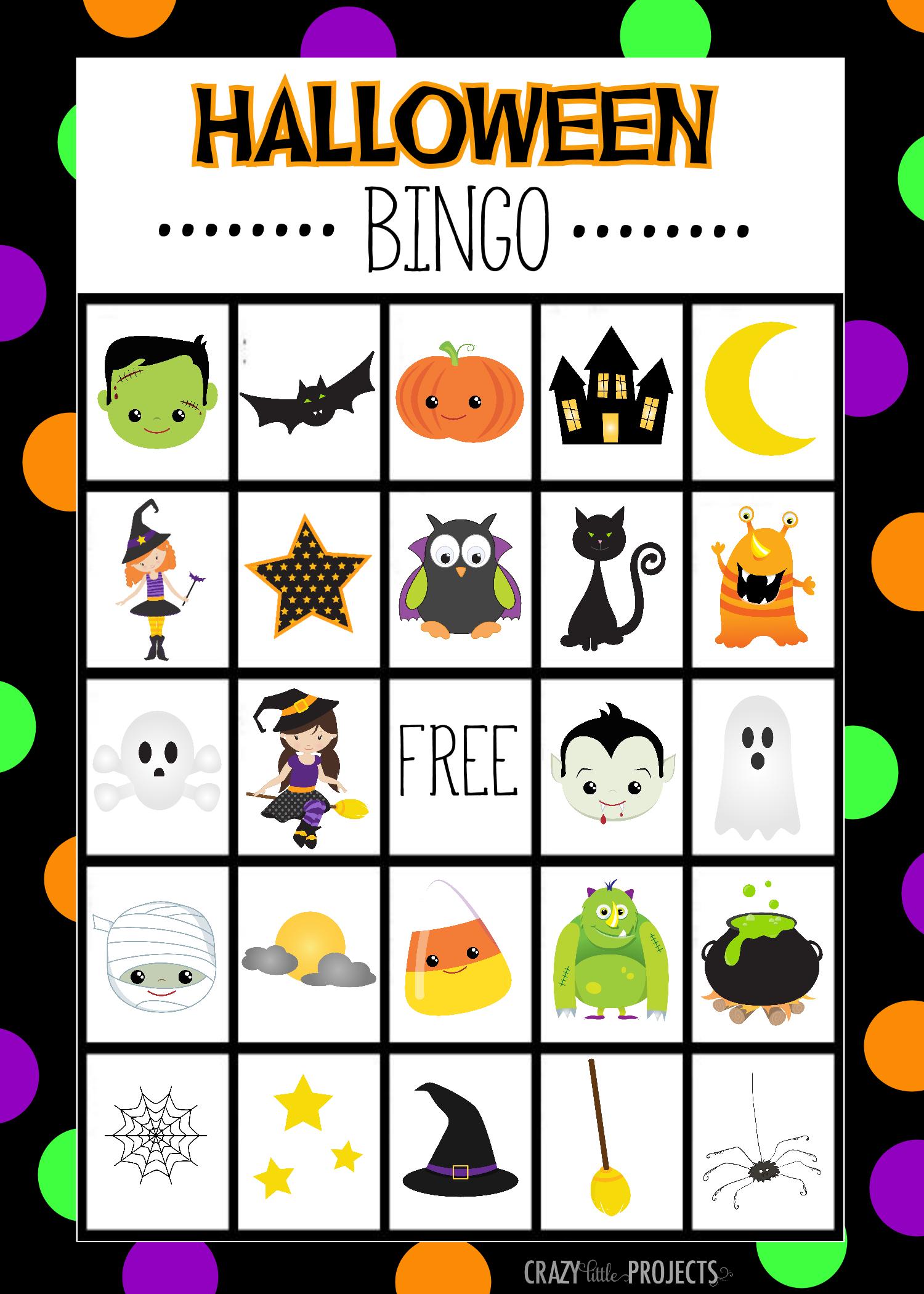 Halloween Bingo - Cute Free Printable Game   Halloween   Pinterest - Free Printable Halloween Party Games
