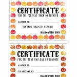 Halloween Certificates ! Give Them Out To Trick O' Treaters As Well   Free Printable Halloween Award Certificates