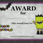 Halloween Contest Certificate Templates | Halloween Arts   Free Printable Halloween Award Certificates