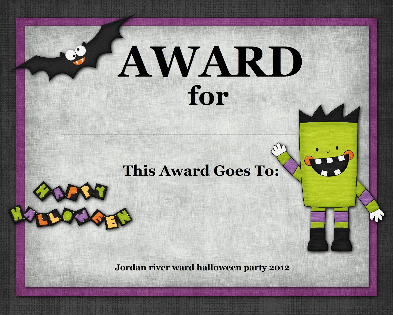Halloween Contest Certificate Templates | Halloween Arts - Free Printable Halloween Award Certificates
