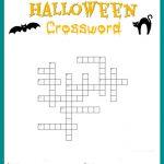 Halloween Crossword Puzzle Free Printable   Free Printable Crossword Puzzles For Kids