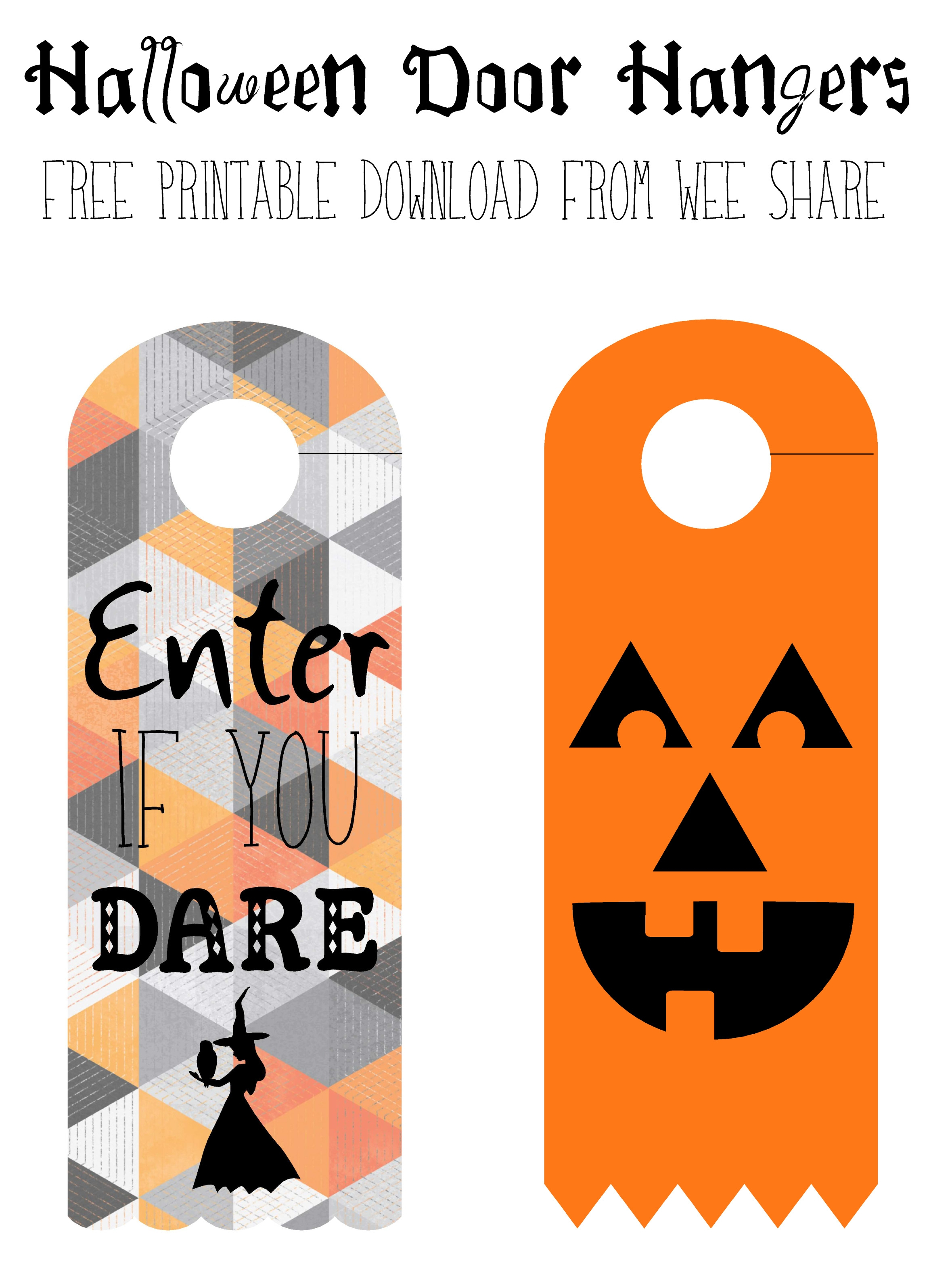 Halloween Door Knob Hanger Template | Door Knobs And Pocket Doors - Halloween Door Hangers Free Printable