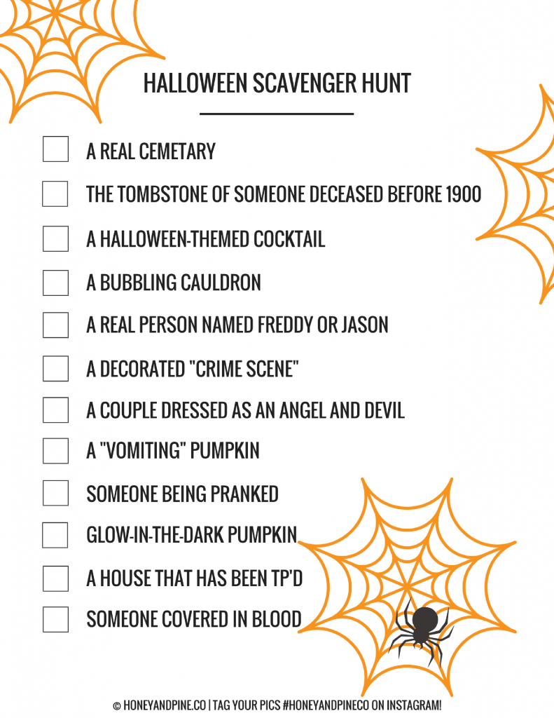 Halloween Games: Printable Scavenger Hunts | **awesome Home - Free Printable Halloween Games For Kids