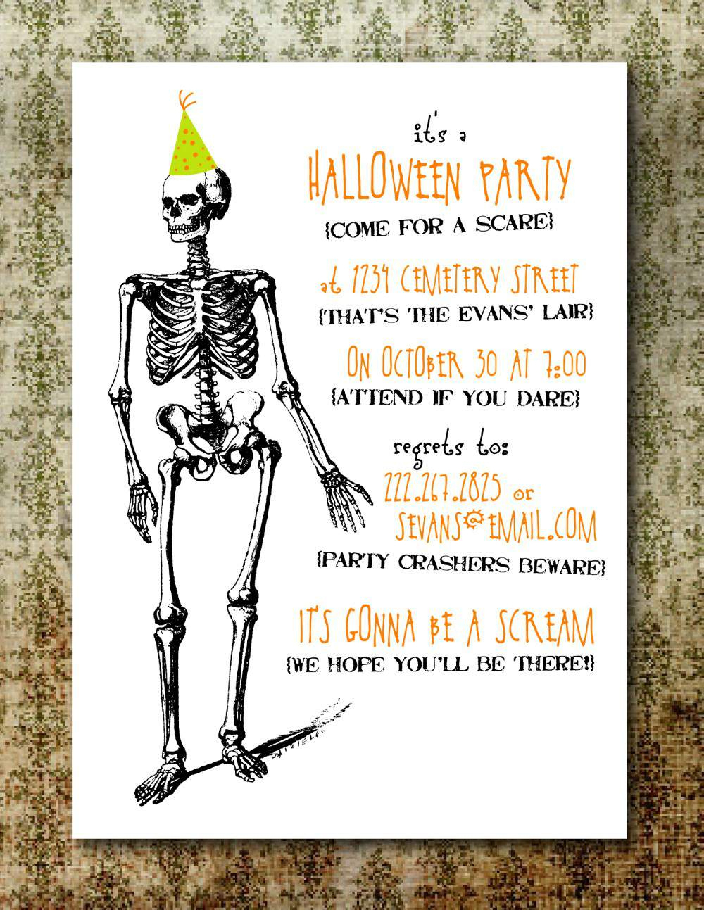 Halloween Invitations Online Printable Chic Free Printable Halloween - Free Online Halloween Invitations Printable