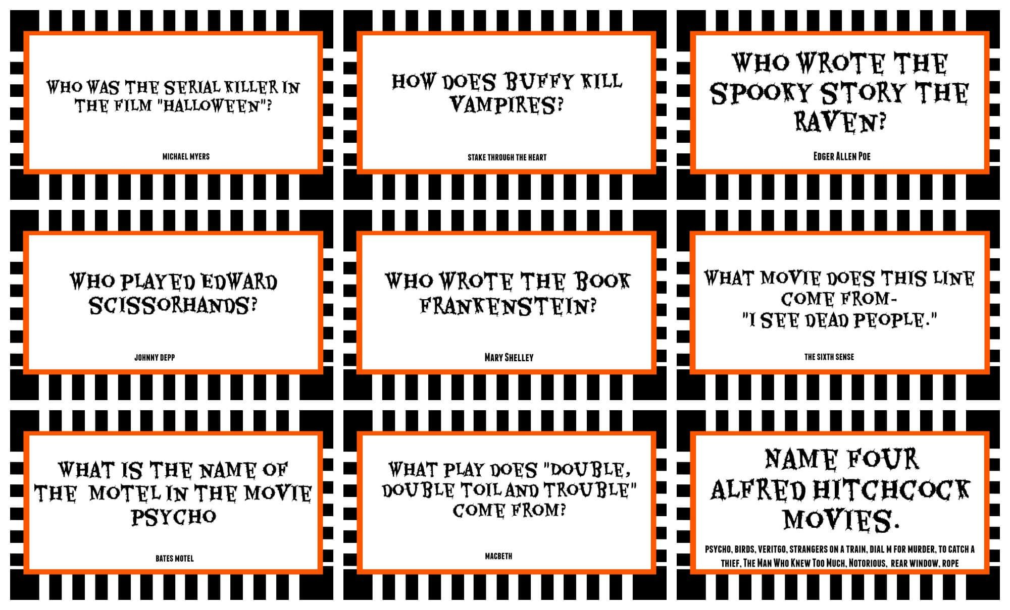 Halloween Movie Trivia Questions And Answers - Google Search - Halloween Trivia Questions And Answers Free Printable