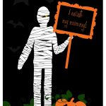 Halloween Mummy Printable   Free Printable Halloween Paper Crafts