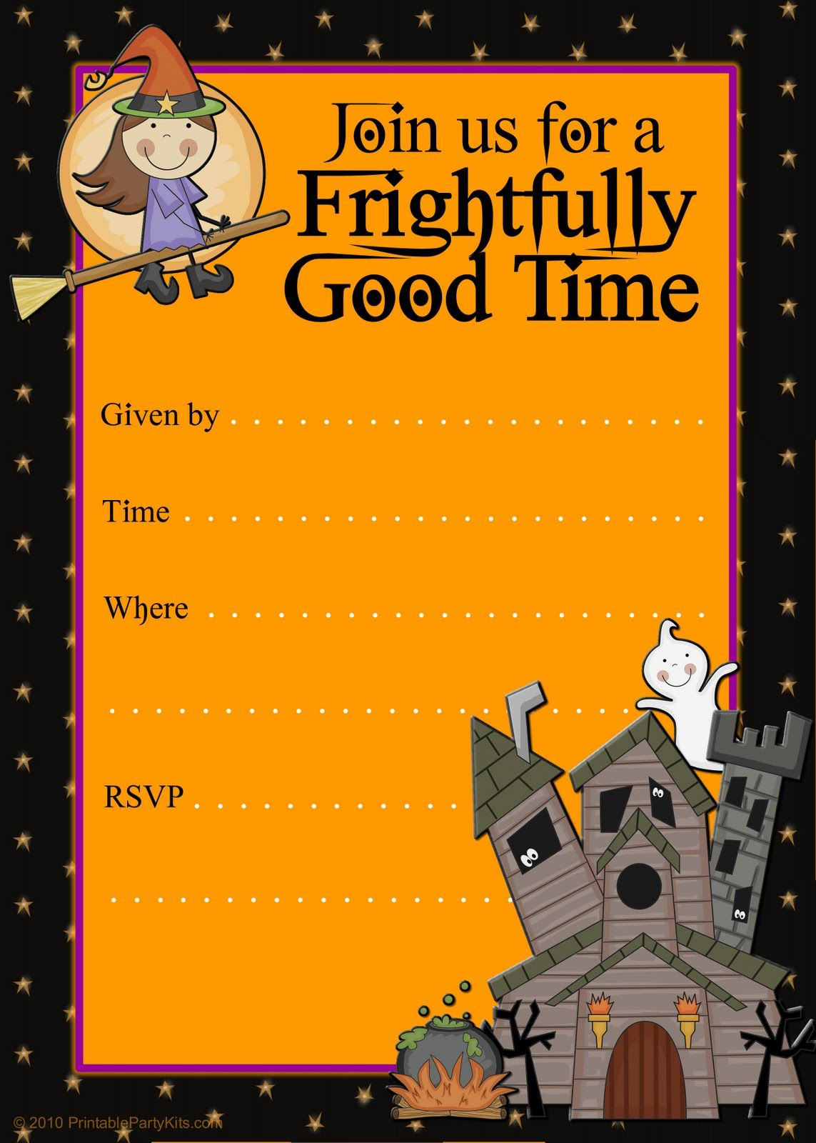 Halloween Party Invitations | Halloween Party Invitation Templates - Free Halloween Birthday Invitation Templates Printable