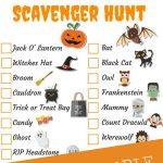 Halloween Scavenger Hunt   Free Printable • Fyitina   Free Printable Halloween Homework Pass