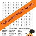 Halloween Word Search Free Printable   Free Printable Halloween Homework Pass