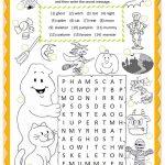 Halloween Wordsearch Worksheet   Free Esl Printable Worksheets Made   Free Printable Bat Writing Paper