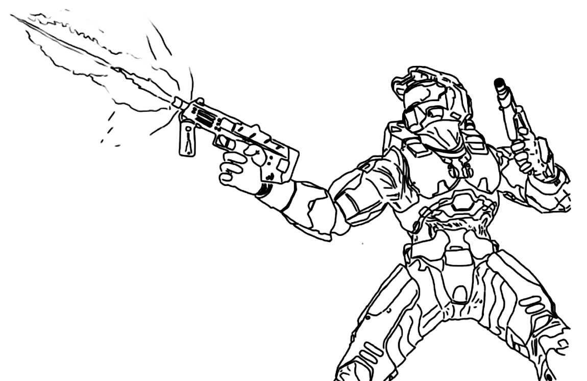 Halo Coloring Pages 4 #41409 - Free Printable Halo Coloring Pages