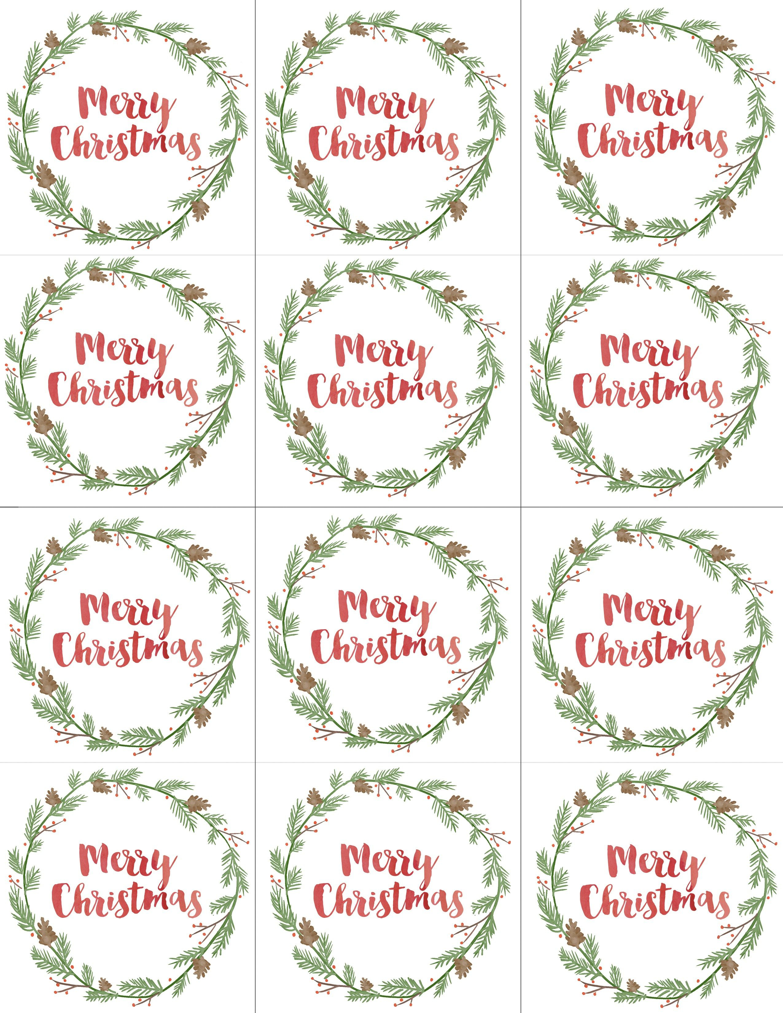 Hand Painted Gift Tags Free Printable   Christmas   Christmas Gift - Free Printable Christmas Labels