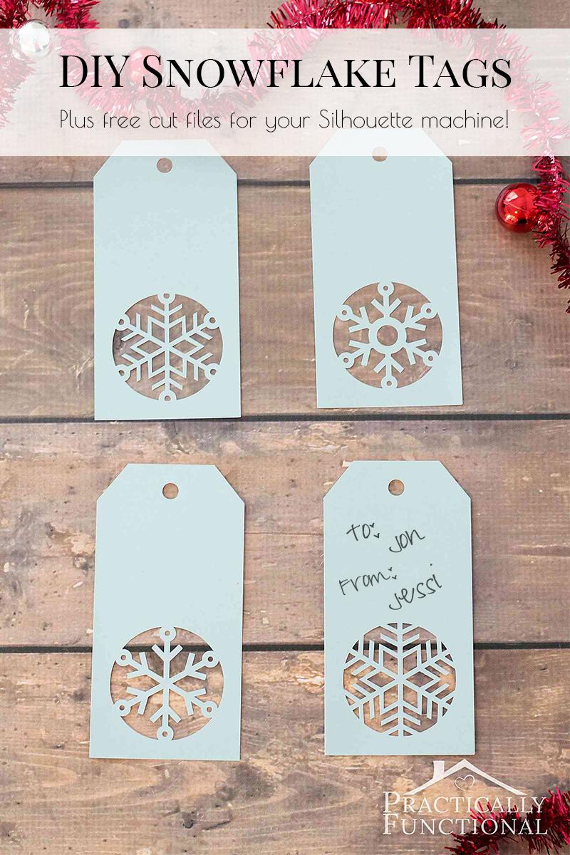 Handmade Snowflake Christmas Gift Tags + Free Template - Diy Gift Tags Free Printable