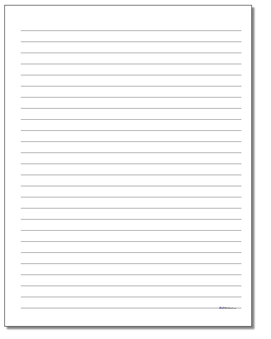 Handwriting Paper - Free Printable Handwriting Paper For First Grade