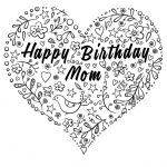 Happy Birthday Mom Coloring Page | Free Printable Coloring Pages   Free Printable Birthday Cards For Mom From Son