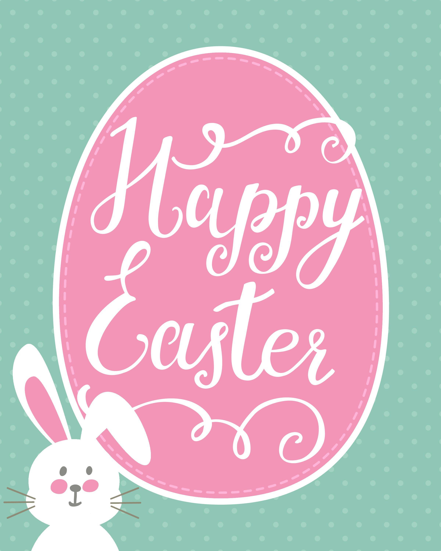 Happy Easter Bunny Printable + Easter Printable Blog Hop | Holidays - Free Printable Easter Cards To Print