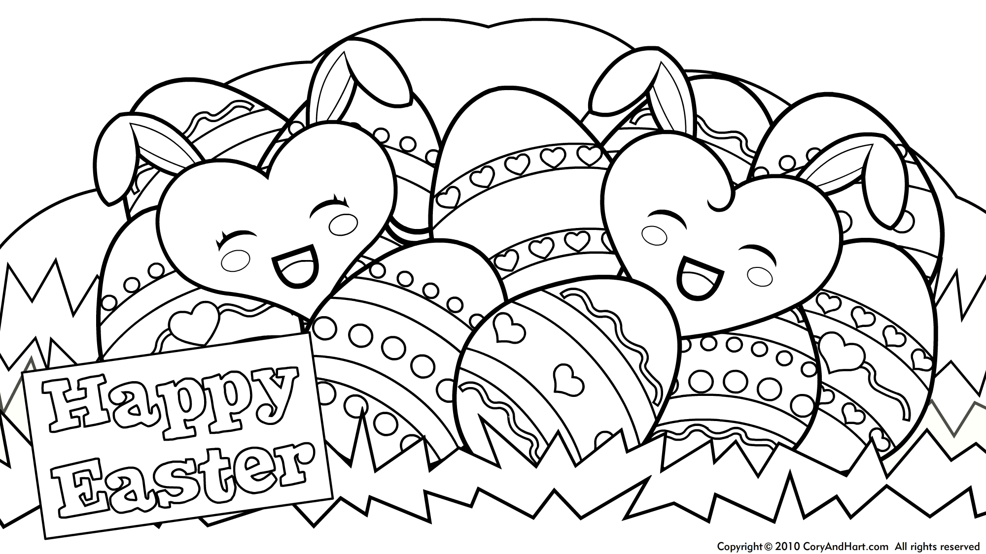 Happy Easter Coloring Pages - Free Large Images | Fun Stuff For Kids - Coloring Pages Free Printable Easter