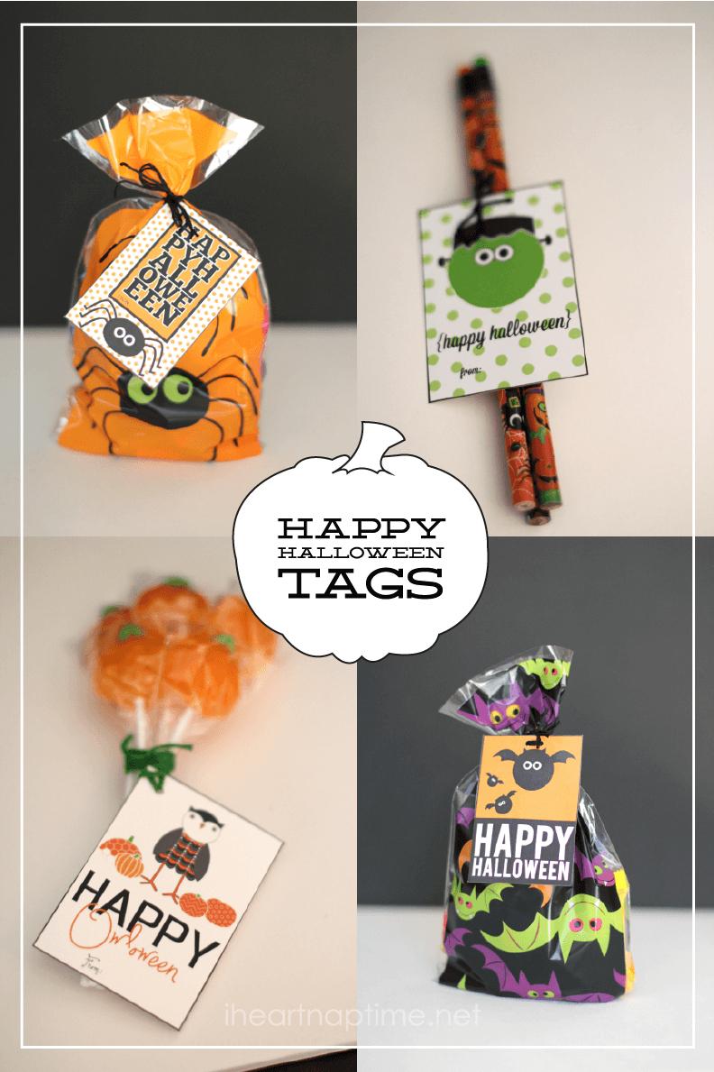 Happy Halloween Tags {Free Printable} - I Heart Nap Time - Free Printable Halloween Tags
