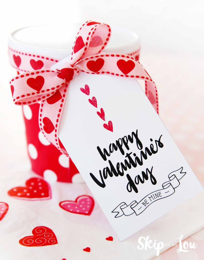 Happy Valentine's Day Gift Tags | Skip To My Lou - Free Printable Valentines Day Tags