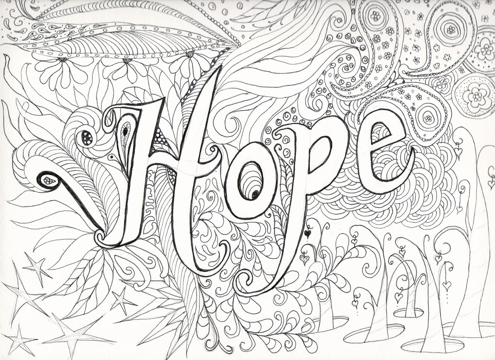 Hard Coloring Pages - Free Large Images   Coloring Pages   Pinterest - Free Printable Hard Coloring Pages For Adults