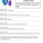 Hard Easter Quiz On Resurrection Of Jesus   Free Printable Bible Trivia For Adults