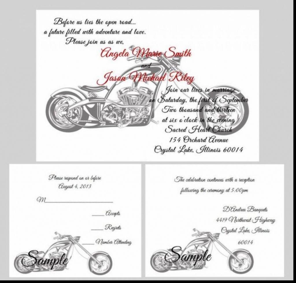 Harley Davidson Wedding Invitations | Jumping The Broom | Pinterest - Motorcycle Invitations Free Printable