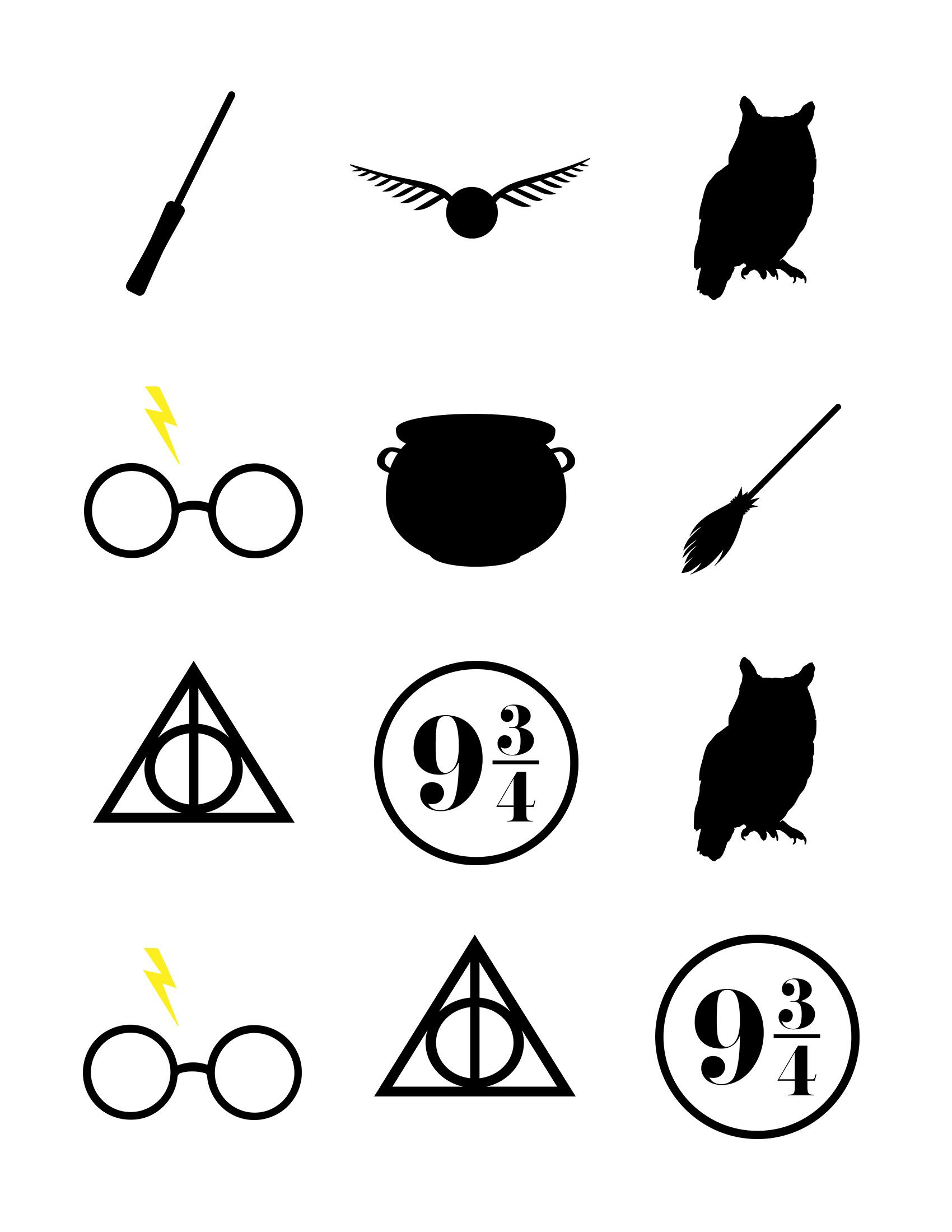 Harry Potter Baby Shower Ideas & Free Printables   Harry Potter - Free Printable Harry Potter Clip Art