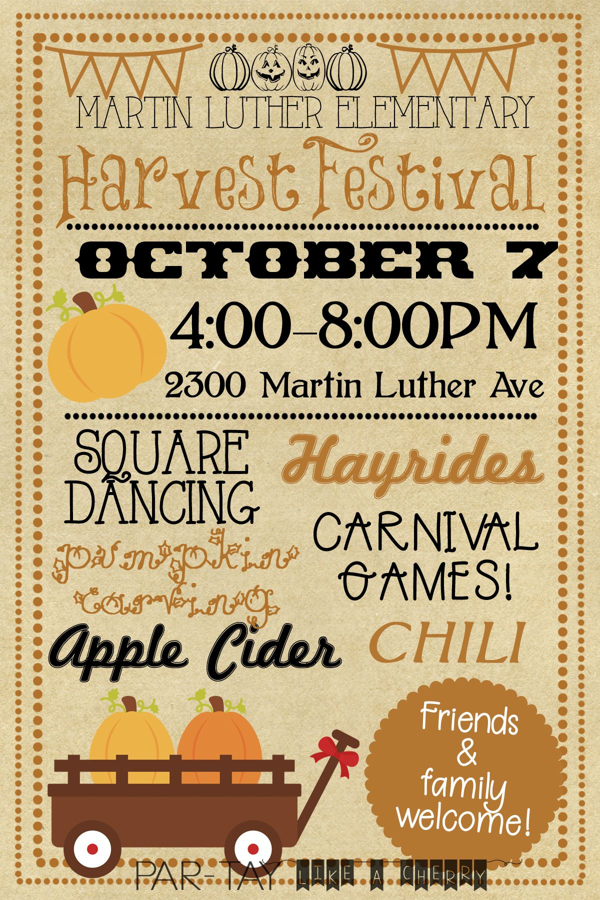 Harvest Festival Invitation | Fall Birthday Party | Fall Harvest - Free Printable Fall Festival Flyer Templates