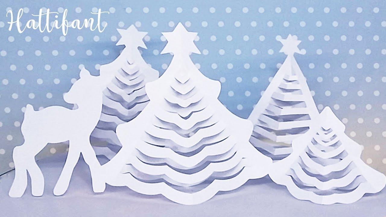 Hattifant - 3D Christmas Tree | The Original | 3D Paper Christmas - Free Printable Christmas Ornament Crafts