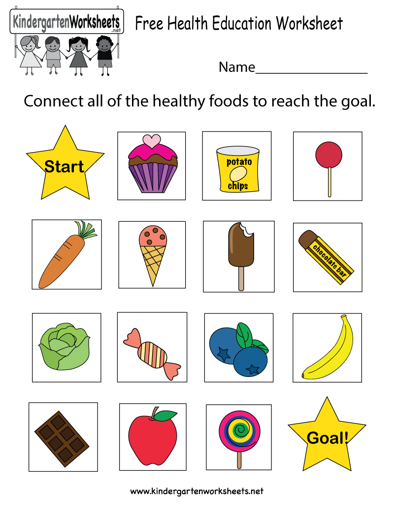 Health Education Worksheet - Free Kindergarten Learning Worksheet - Free Printable Healthy Eating Worksheets