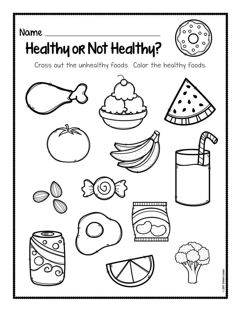 Healthy Foods Worksheet [Free Download - Free Printable Healthy Eating Worksheets