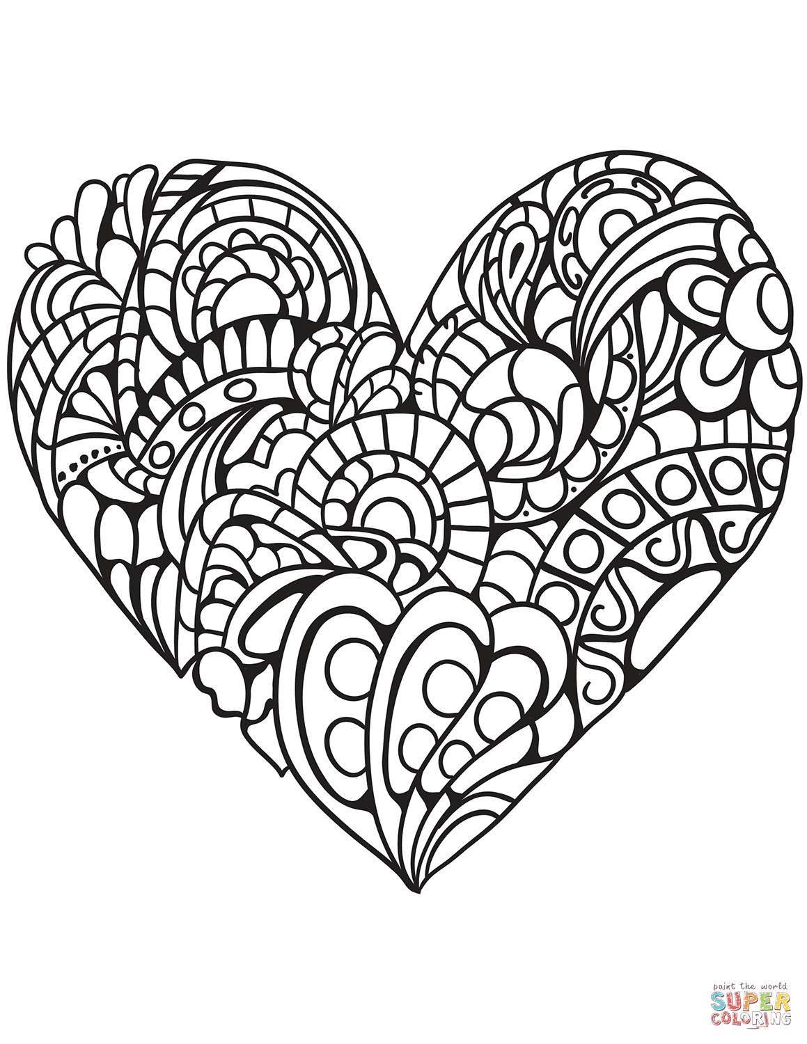 Heart Coloring Pages | Free Printable Pictures - Free Printable Heart Coloring Pages