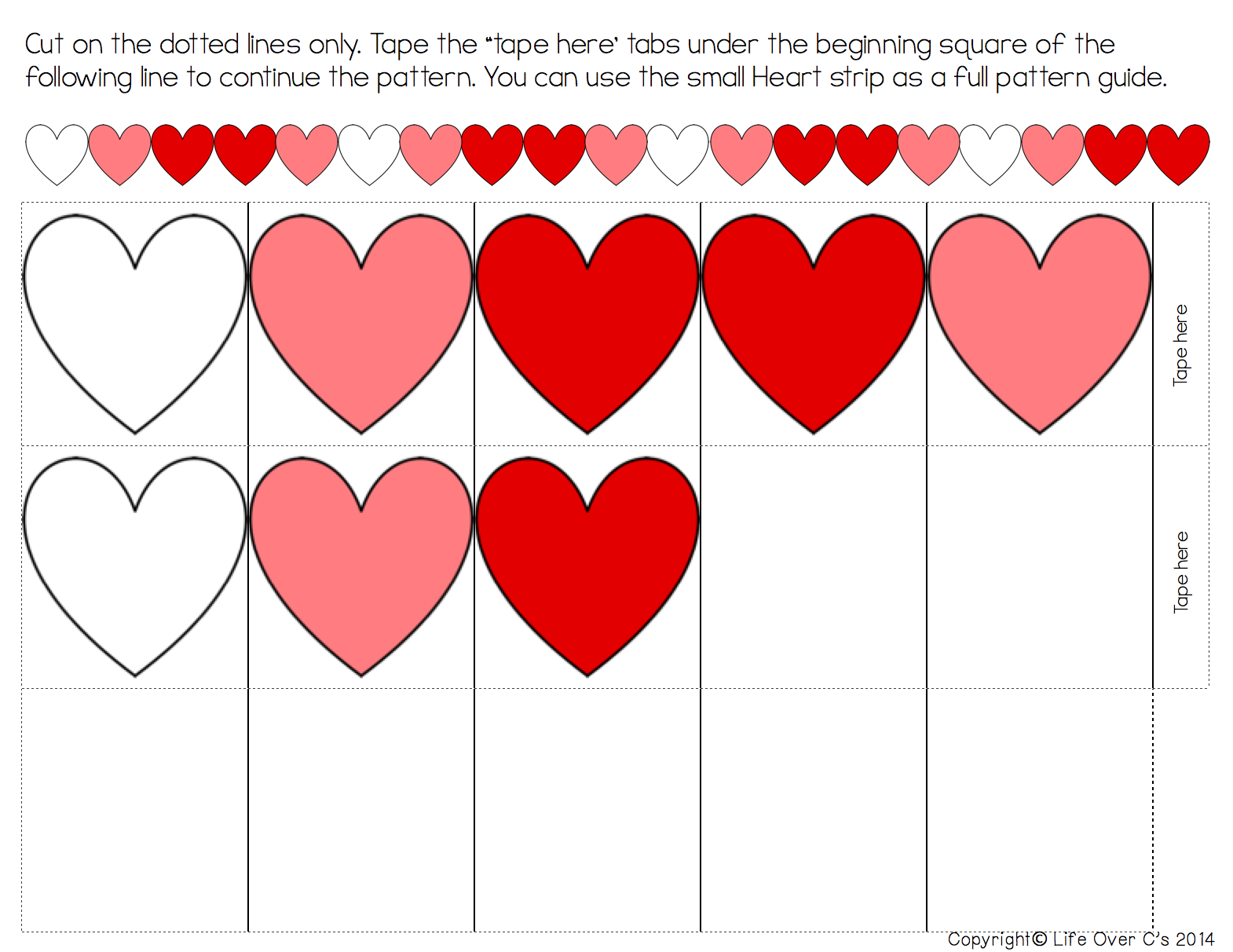 Heart Pattern Free Printable For Valentine's Day | Holidays - Free Printable Valentine Heart Patterns