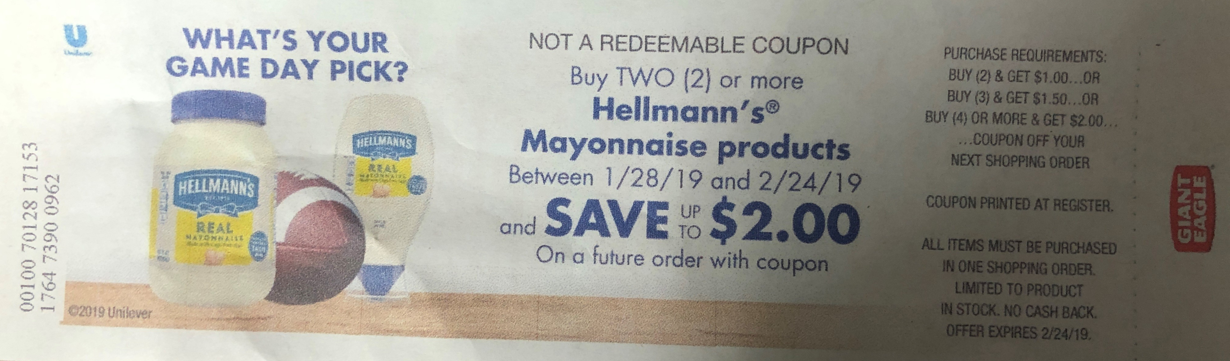 Hellmann's® Coupons (Free) - Hellmann's Mayo Coupons - Free Printable Giant Eagle Coupons