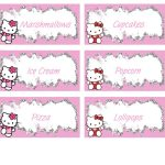 Hello Kitty Food Labels   Free Pdf Download | Birthday Party Kids   Hello Kitty Labels Printable Free