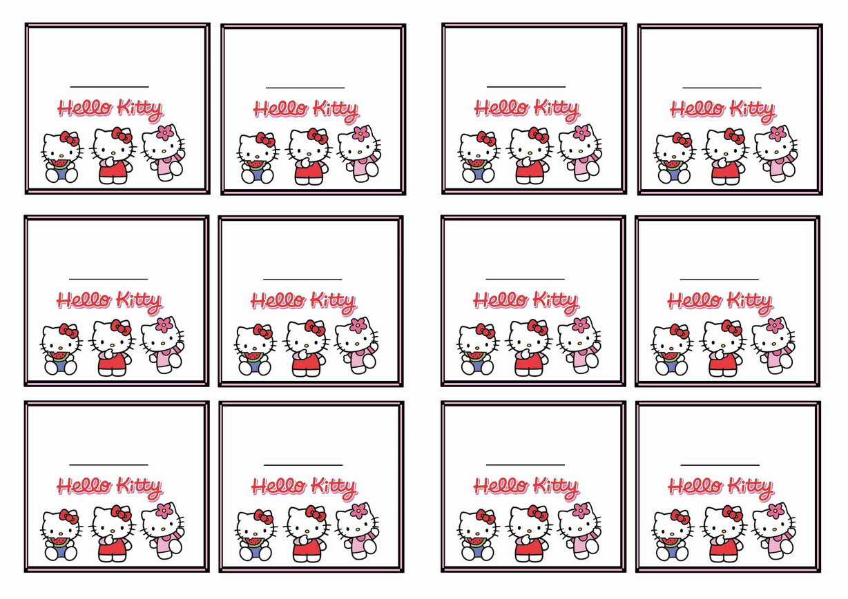 Hello Kitty Name Tags | Birthday Printable - Hello Kitty Name Tags Printable Free