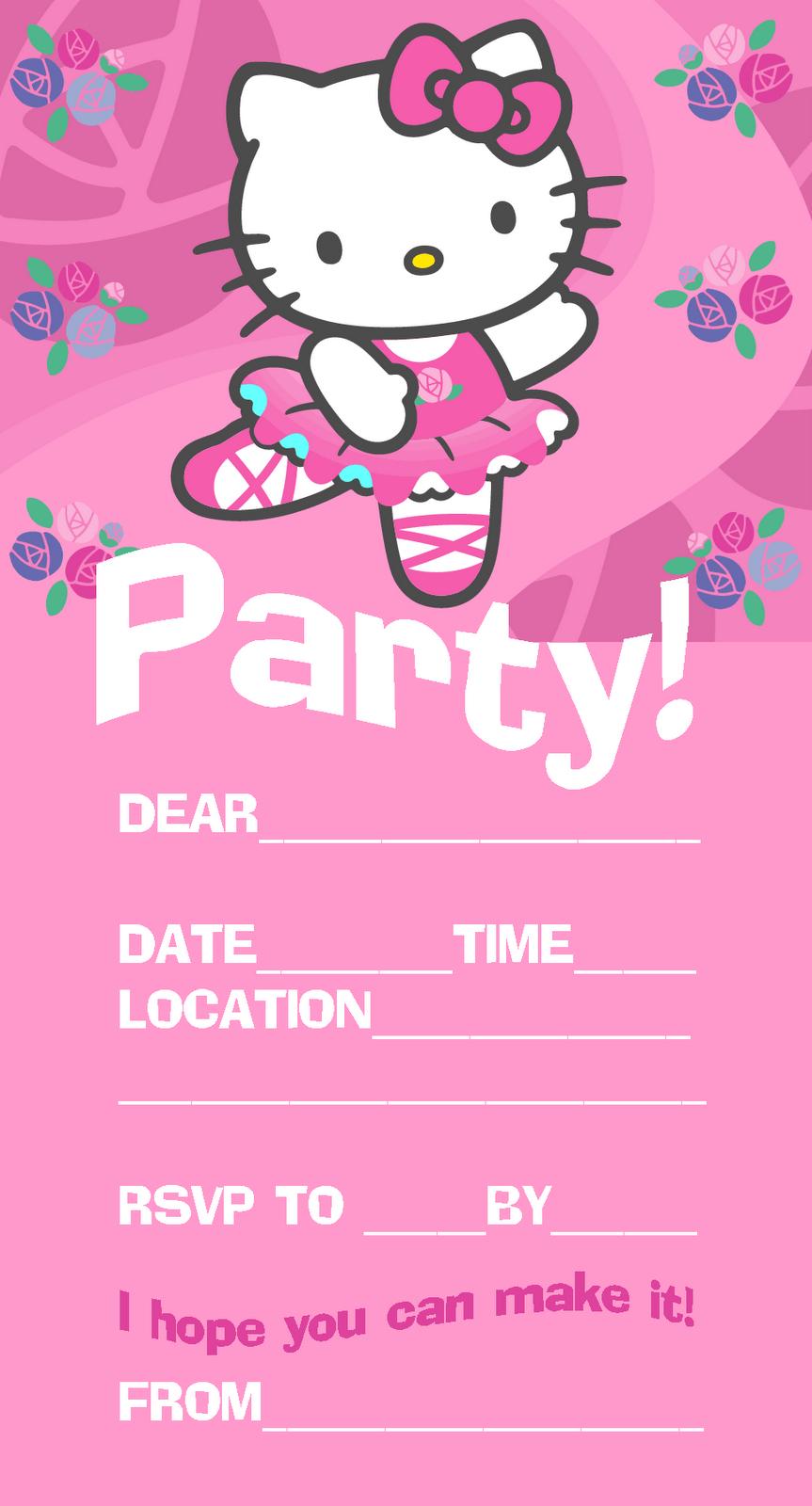 Hello Kitty Printable Invitations   Hello Kitty In 2019   Pinterest - Hello Kitty Birthday Card Printable Free