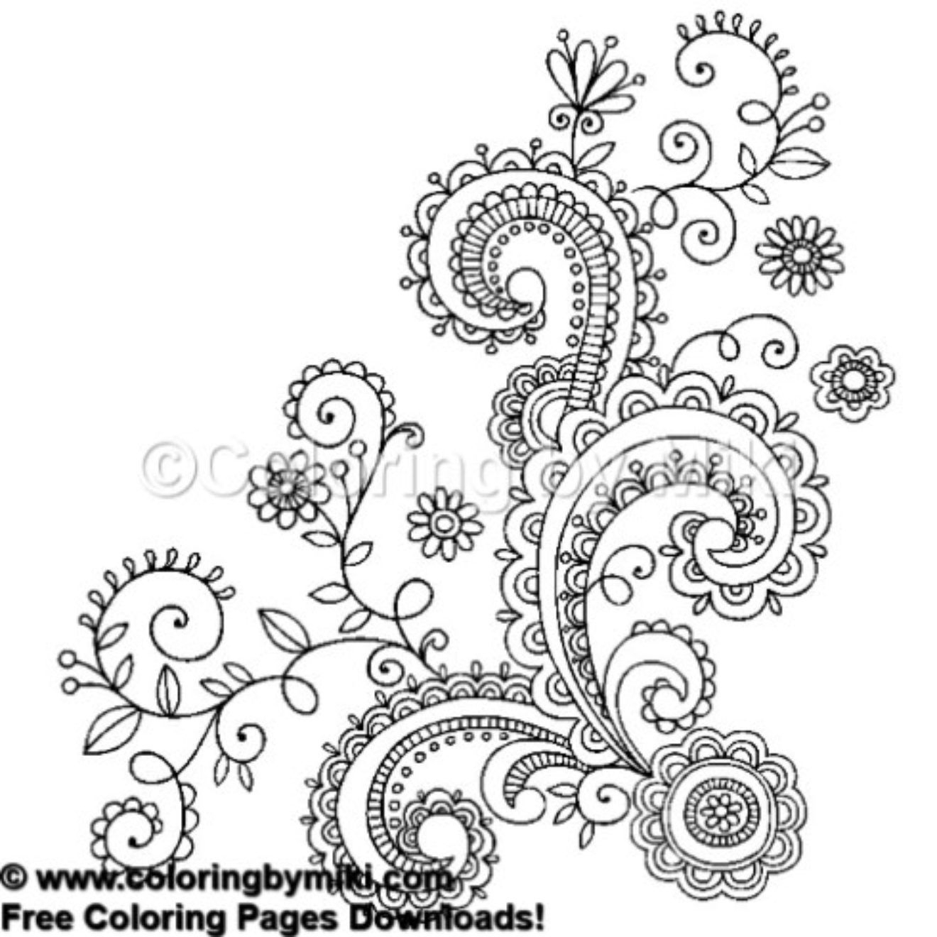 Henna Tattoo Design Coloring Page #653 | Tribal - Free Coloring - Free Printable Henna Tattoo Designs