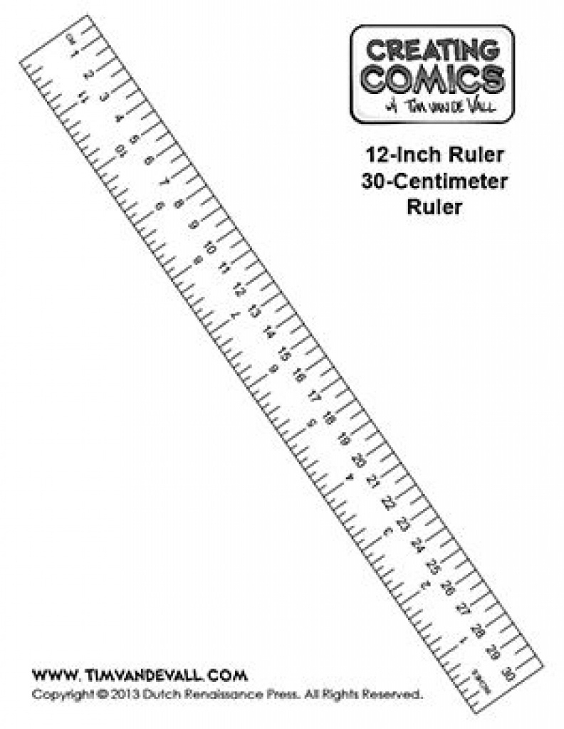 Here's A Free Printable Ruler In Inches And Centimeters That You Can - Free Printable Ruler