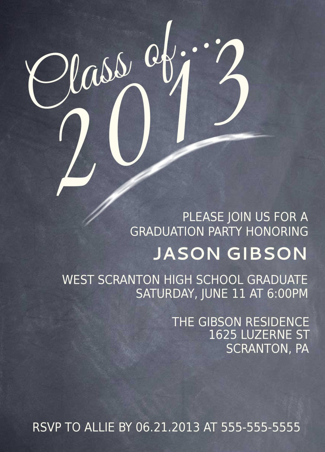 High School Graduation Party Menu | Printable Chalkboard Graduation - Free Printable Graduation Party Invitations 2014