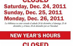graphic about Free Printable Holiday Closed Signs named Holiday vacation Last Signs or symptoms Templates Template Business enterprise For Cost-free